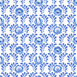 Blue flowers floral russian porcelain beautiful royalty free illustration