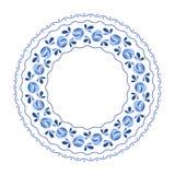 Blue flowers floral russian porcelain beautiful Stock Photos