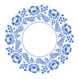 Blue flowers floral russian porcelain beautiful Royalty Free Stock Photos