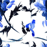 Blue flowers illustration Stock Photography