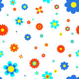 Blue flowers jointless pattern. Jointless pattern from different colored Royalty Free Stock Photos