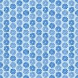 Blue flowers, ornament, seamless pattern Royalty Free Stock Image