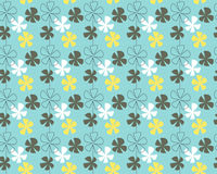 Blue flowers pattern. Seamless blue flowers wallpaper with retro design Royalty Free Stock Images