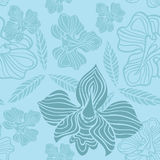 Blue flowers pattern Stock Photos