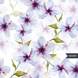 Blue flowers pattern Stock Photography