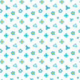 Blue flowers pattern Stock Images