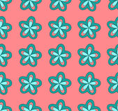 Blue flowers on a pink background, Illustration a royalty free stock photography