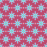 Blue flowers and pink dots Stock Images