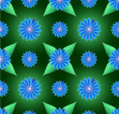 Blue flowers seamless background Royalty Free Stock Photo