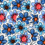 Blue flowers seamless background Royalty Free Stock Image