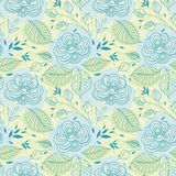 Blue flowers seamless pattern Royalty Free Stock Images