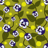 Blue flowers seamless pattern. Stock Image
