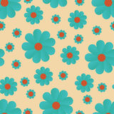 Blue flowers, seamless pattern Royalty Free Stock Photography
