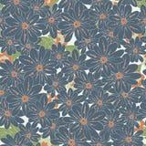 Blue flowers seamless pattern. Romantic Flower Background seamless pattern Stock Photos