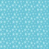 Blue flowers seamless pattern Royalty Free Stock Photo