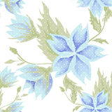 Blue flowers seamless pattern on white Royalty Free Stock Photo