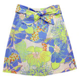 Blue flowers skirt Royalty Free Stock Photo
