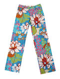 Blue flowers trousers Stock Images