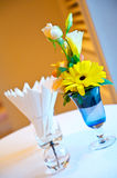 Blue  flowers in a vase. Royalty Free Stock Images