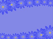 Blue flowers. Vector. Royalty Free Stock Photo