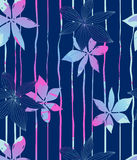 Blue flowers. Vector illustration of floral pattern Stock Photo