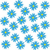 Blue flowers on white background. Vector illustration Stock Photo