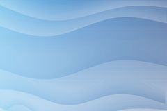 Blue Flowing Soothing Waves Royalty Free Stock Image
