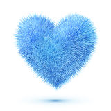 Blue fluffy vector heart Royalty Free Stock Images