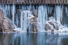 Blue Flume Ice Royalty Free Stock Photos