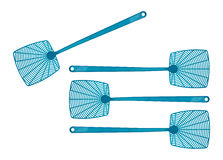 Blue fly swatters Royalty Free Stock Photo