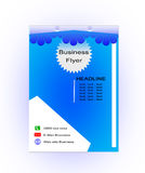 Blue Flyer template design. Brochure. Layout. Report A4 size Royalty Free Stock Photos