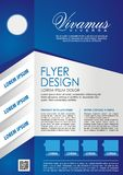 Blue Flyer template. Brochure design. A4 size Stock Photography