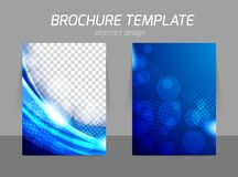Blue flyer template design Royalty Free Stock Photos