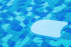 Blue foam board for learning to swim Stock Photos