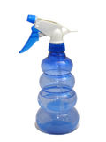 Blue foggy sprayer isolation on white. Background Royalty Free Stock Photography