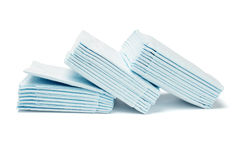 Blue folded facial tissue papers Stock Images