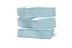 Blue folded tissue papers Royalty Free Stock Photography