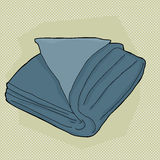 Blue Folded Towel Royalty Free Stock Images