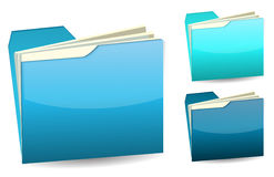 Blue folder. Isolated on white Royalty Free Stock Images