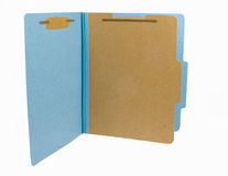 Blue folder Royalty Free Stock Photos