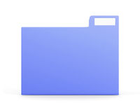Blue folder for files isolated on white background. Front view. Stock Photography