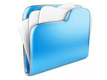 Blue Folder icon Stock Photography