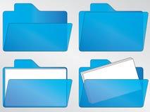 Blue folder icons Stock Photo