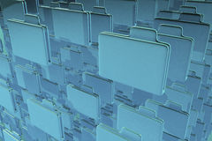 Blue Folders. A 3D illustrated background of blue folders Royalty Free Stock Photography