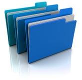 Blue Folders Stock Photography