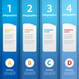 Blue folders infographic Stock Image