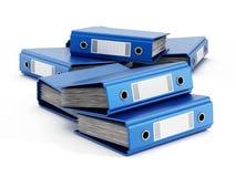 Blue folders Stock Photo