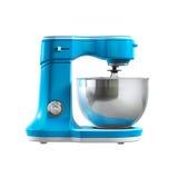 Blue food mixer isolated on white background Royalty Free Stock Image