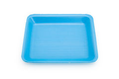 Blue food tray Royalty Free Stock Photos