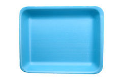 Blue food tray Stock Image